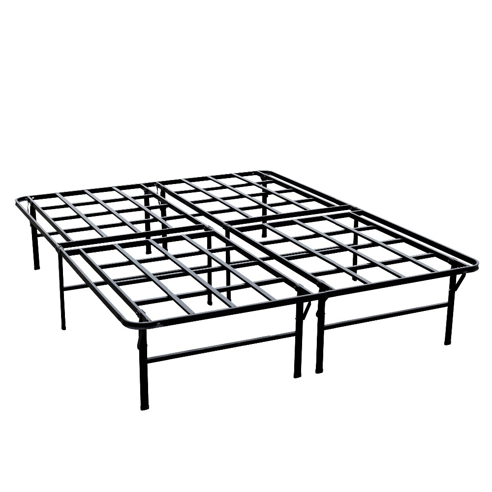 Heavy Duty Steel Folding Platform Bed Easy Assemble Mattress Foundation 14.5 inch Height Platform Base