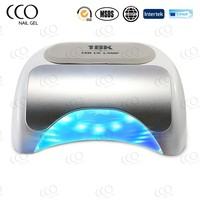 CCO Factory 18W LED/UV Nail Lamp Cures All Five Fingers Pedicure Friendly