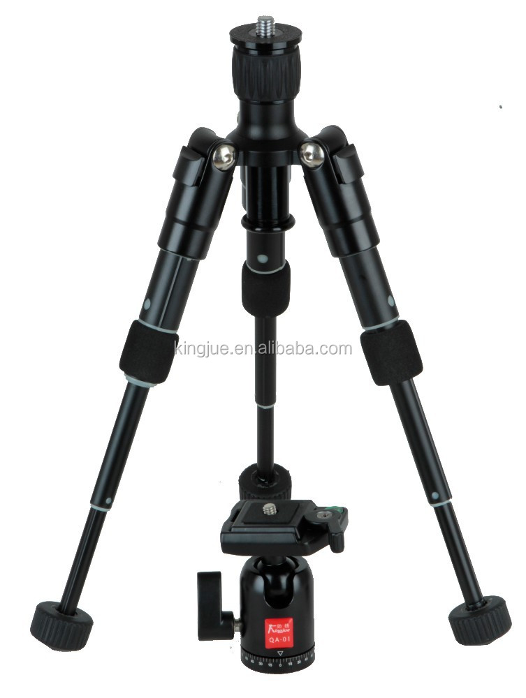 Kingjoy carbon fiber hunting equipment tripod with counter weight hook design MM-259C+QF-0