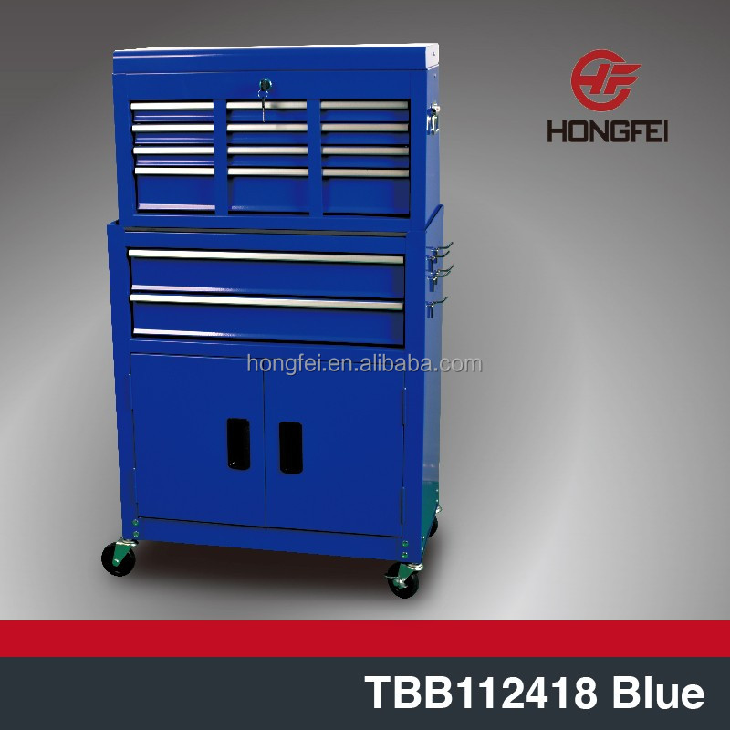 wholesale moving roller steel tool chest metal boxes in blue