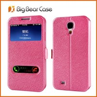 Wholesale price for samsung s4 leather flip cover mobile phone case