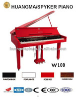 HUANGMA HD-W100 red digital grand piano for music dancing flower toys