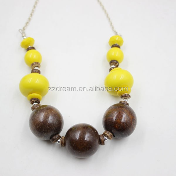 New Design Big Wood Bead Teething Nursing Necklace