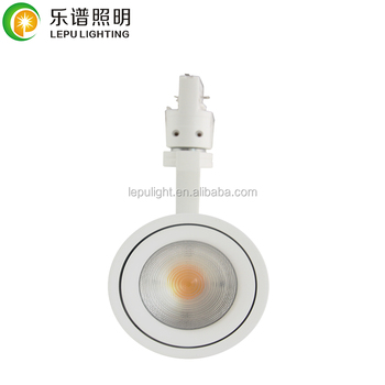 New led track lighting angle adjustable from 20deg to 60deg warm white non dimmable with Tridonic driver CRI>92 high quality
