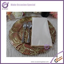 17911 color bulk new design wholesale party copper decorative plates