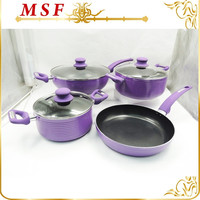 purple high temperature lacquer spiral surface non stick cookware