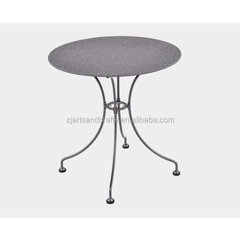 Wrought Iron Small Round Outdoor Garden Dining Table