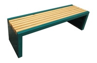 china facotry low cost selling wpc metal frame public rest outdoor sitting garden benches