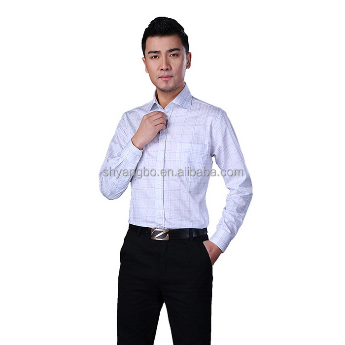 Factory Price China gold supplier Discount men formal striped long sleeve shirts