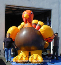 30ft tall Inflatable Turkey Model,Inflatable Advertising Turkey Balloon for thanksgiving days decoration