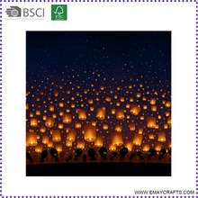 Cheap Big Biodegradable Luminaria Sky Lantern for Party Decoration