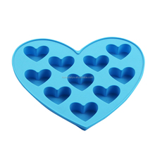 Candy color heart shaped silicone cookie mold