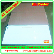 EL Backlight Panel Backlit Sheet Whole Brightness Advertising Blank Board No Inkjet Picture on the surface