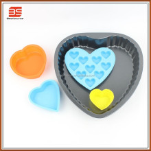 Carbon Steel Silicone Heart Shape Baking Pan Cake Mold Mould Set