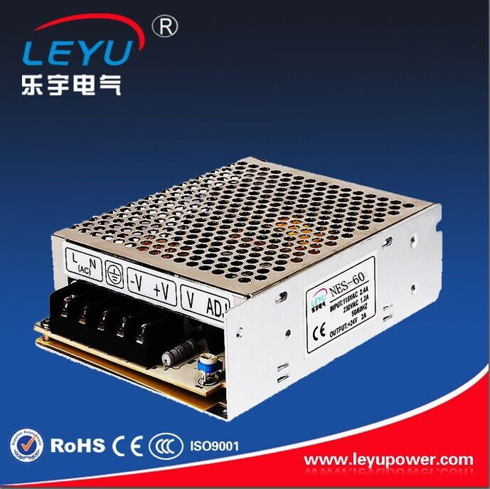 60w ac dc power supply 24v with CE RoHS NES-60-24 single output led <strong>driver</strong> 2 years warranty