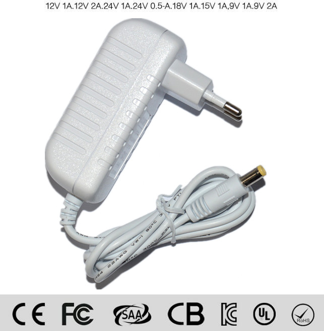2016 NEW 12V 1A EU Plug Home wall Power Adapter for 3528 5050 RGB SMD LED Light Strip EN60950