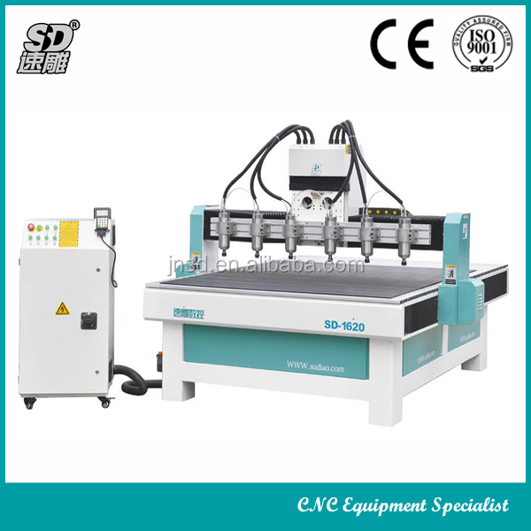 3d wood engraving machine 3 axis 6 heads cnc carving router machine
