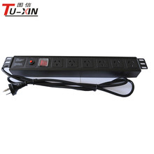 19'' rack pdu socket industrial switch pdu 15a USA cixi