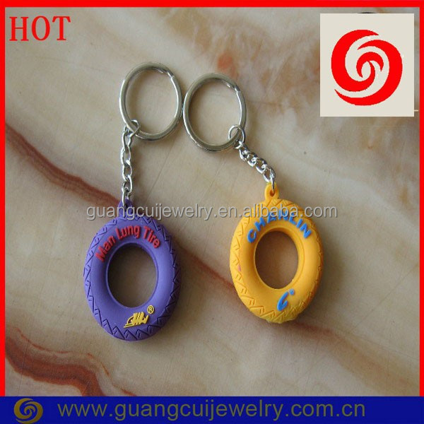 Welcome custom ODM/OEM tire embossed pvc keychain