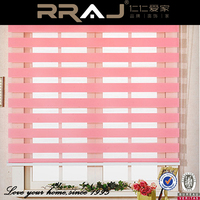 layout panel track polyester fabric pleated zebra blinds
