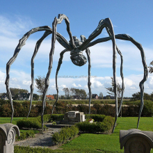 high quality creative decorative huge size stainless steel animal spider sculpture for outdoor landmark landscape decoration