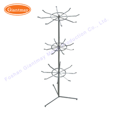 rotating small counter hanging iron wire display stands for necklaces with hooks