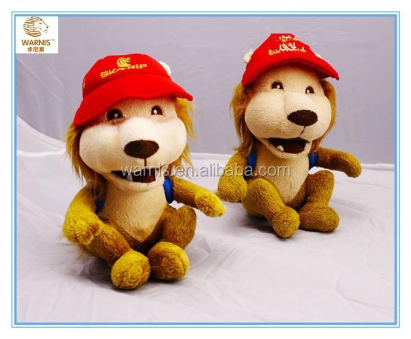 Plush toy manufacturer customize gifts Stuffed animal toys sitting lions with hats