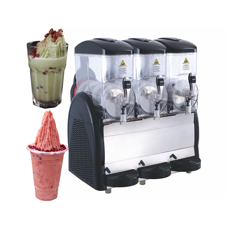 Commercial smooth ice slush <strong>machine</strong> three tanks slush making <strong>machine</strong> Granita Slush <strong>Machine</strong>