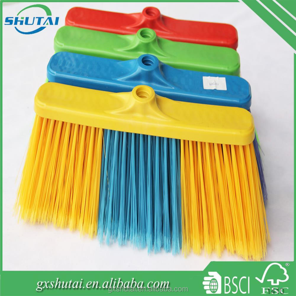 plastic broom handle soft bristle indoor use head broom corn for sale