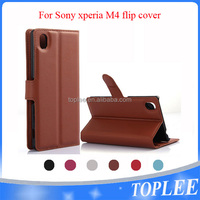 new design ! flip cover for sony Xperia M4 case