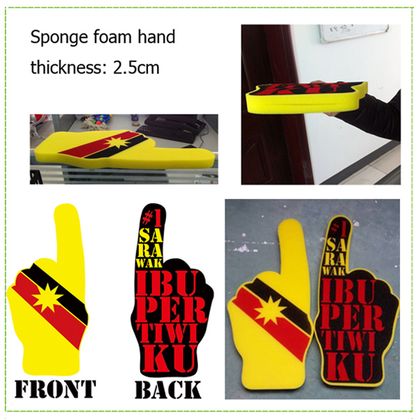 Fans foam finger hand for cheering