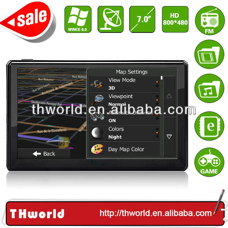2014 Wholesale Checkout 7 inch gps navigation system bluetooth reverse camera with 800MHz CPU only $33