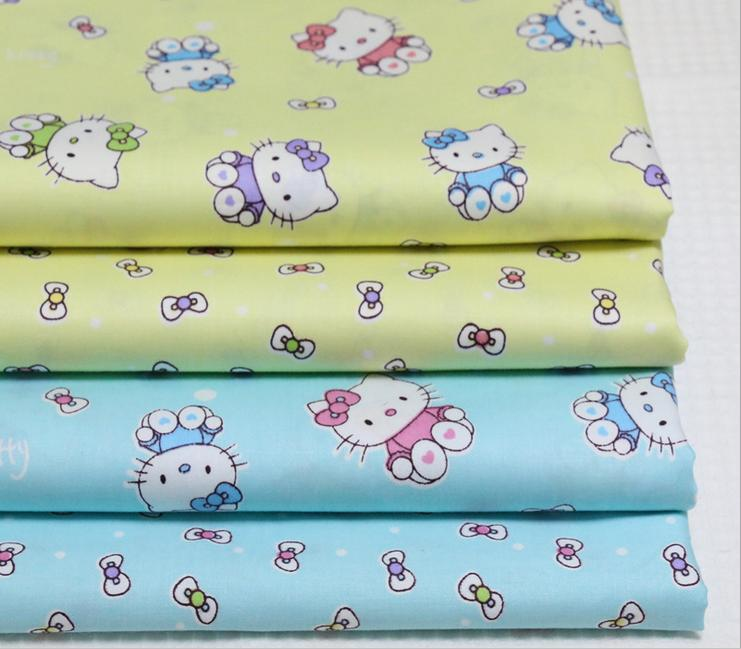 Factory wholesale Popular design 100% Cotton Cat print fabric