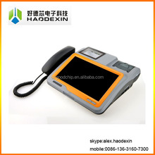 Touch screen Android pos terminal with receipt thermal printer barcode scanner RFID IC crazy price HAODEXIN GC039B