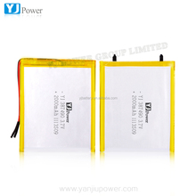 lithium battery pack 2000mah 3.7v li polymer battery with rechargeable laptop battery scrap for smartwatch ,televisio