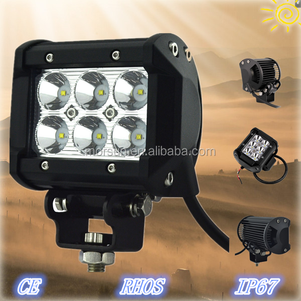 4 inch 18W Offroad/Auto LED Driving Light Bar IP68 9-32V 18W car led working lights 4 inch