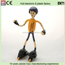 Metal wire plastic figure,Custom bendable plastic figure mold,OEM plastic miniature human figure factory