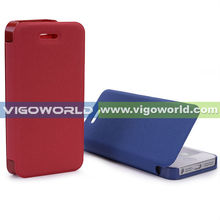 Ultra Slim Thin Flip PU Red/Blue Leather Diary Book Case Cover For iPhone5 5th Gen