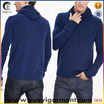 blue hoody sweater men