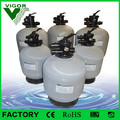 Top mount swimming pool quartz sand filter