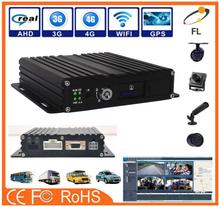 experienced manufacturer Double SD card 3G realtime GPS AHD 720p Mobile DVR with 3g 4g wifi optional