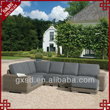 S&D sectional outdoor rattan curved sofas