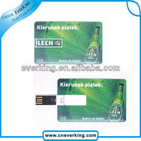 2014 bulk custom design credit card usb with printing logo