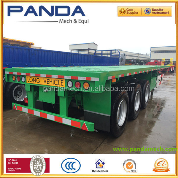PANDA High quality 3 Axle 40 ft flatbed container semi trailer