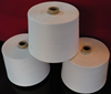 spun polyester material in raw white yarn for weaving