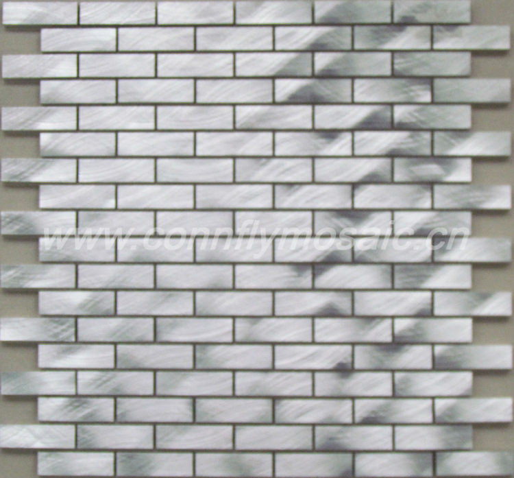 Silvery strip aluminum wall tile mosaic