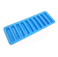 Benhaida Food Grade 10 Cavity Silicone Long Sticks Ice Cube Tray