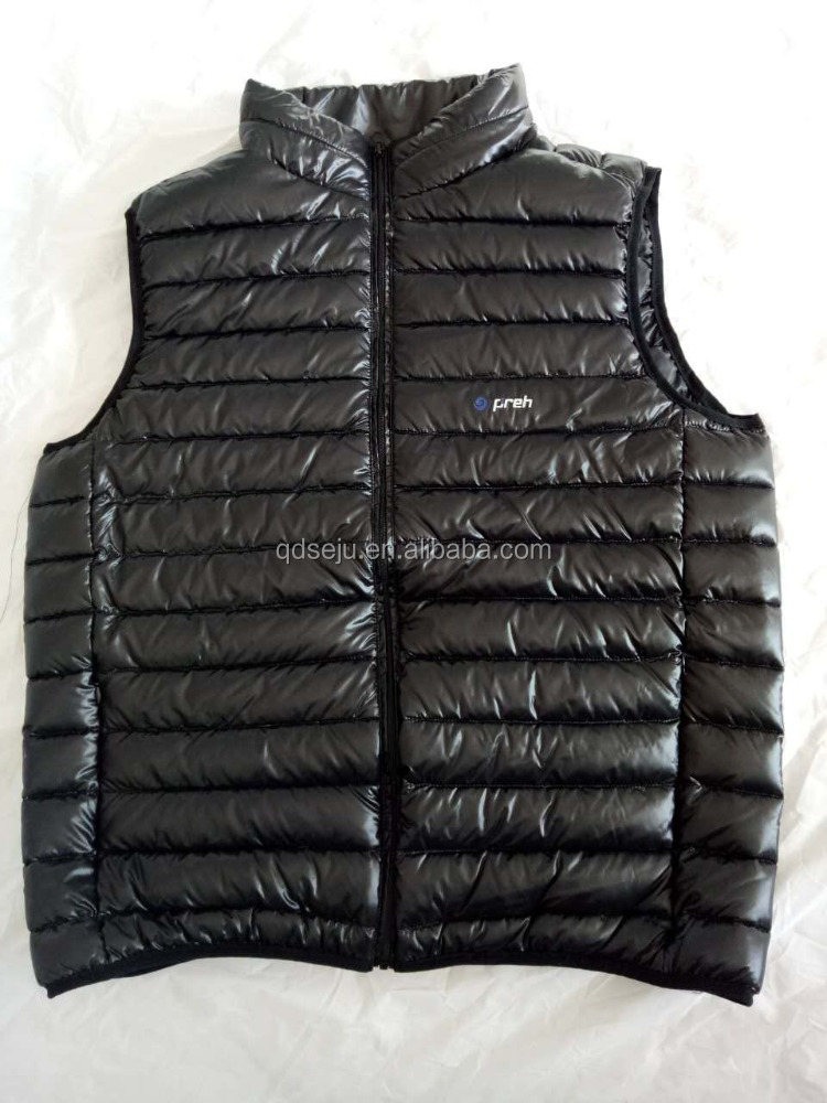 Popular unisex sleeveless winter warm quilted down vest