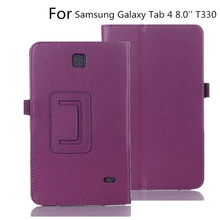 Case Cover For Samsung Galaxy Tab 4 8.0 inch T330 T331 T335 Tablet Case Folding Stand Smart PU Leather Case