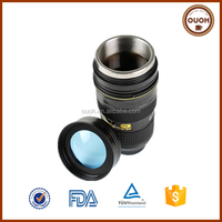 Novelty Stainless Steel Nican 24-70mm 2nd Camera Lens Coffee Drink Cup